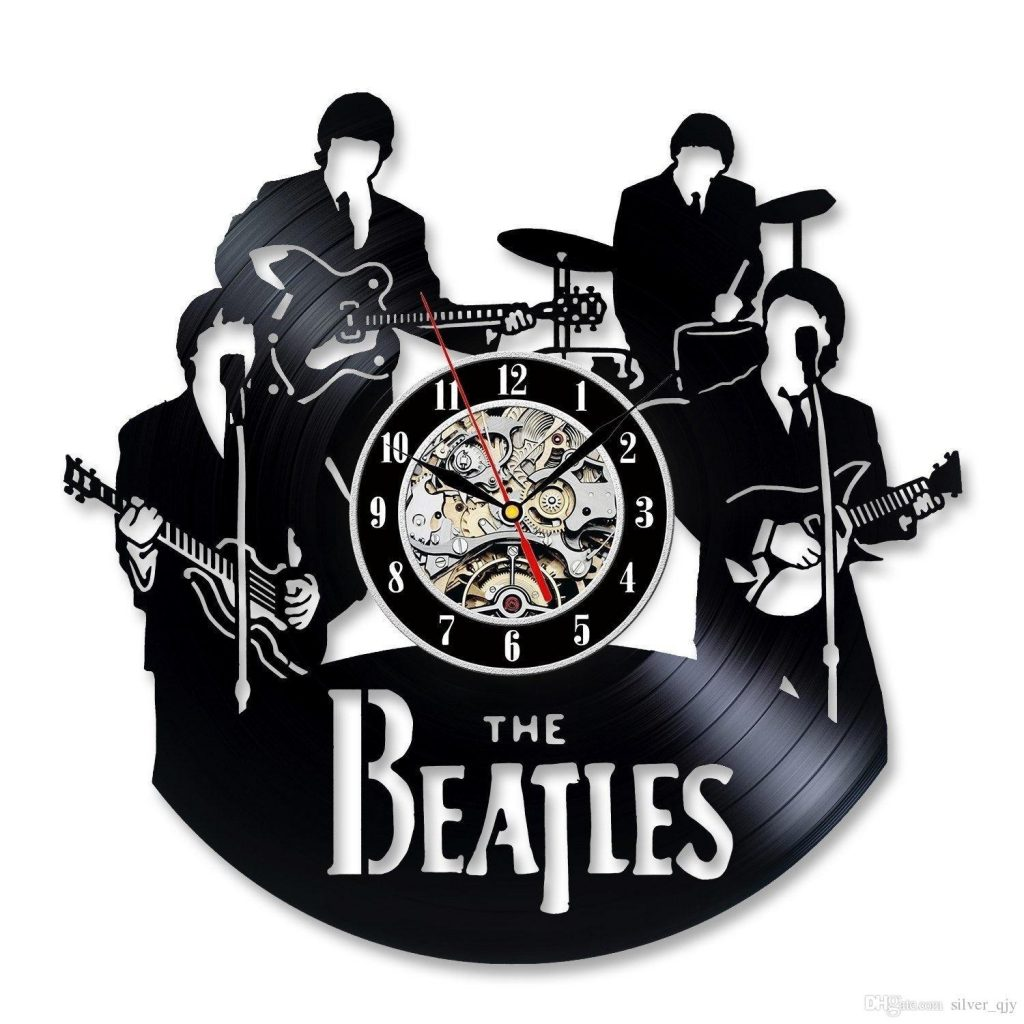 Beatles Vinil Duvar Saati