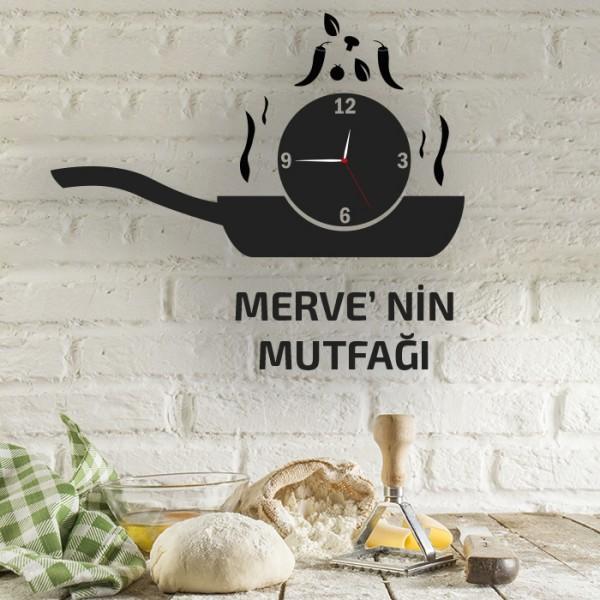 İsim Yazılı Dekoratif Mutfak Duvar Saati