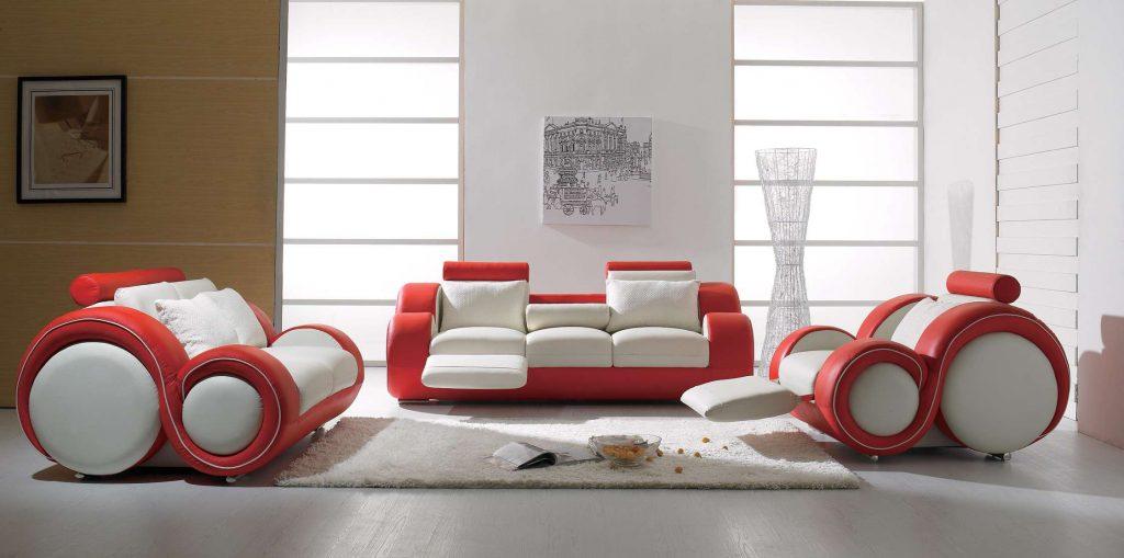 şahane italya oturma grubu seçenekleri kırmızı beyaz