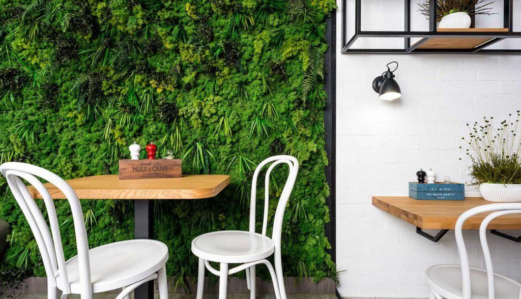Bahçe Yosun Duvar Fikirleri