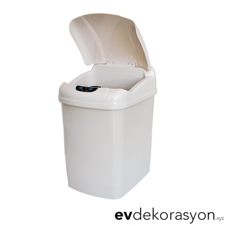 Beyaz Plastik 18 Litre Banyo Çöp Kovası Modeli