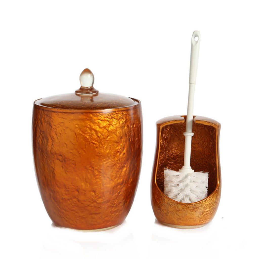 Bosphorus Çöp Kovası Ve Tuvalet Fırçası 2 Li Set