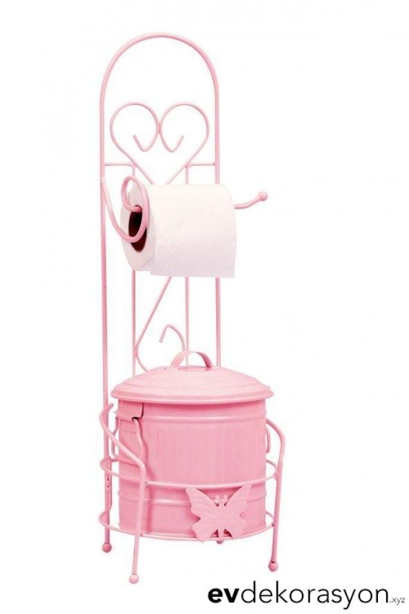 Ferforje Banyo Çöp Kovası Tuvalet Askısı