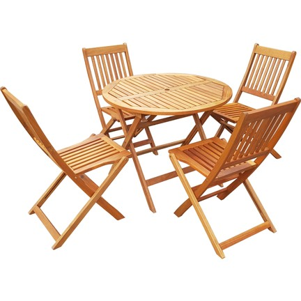 Hepsiburada Balkon Masa Takımı Yuvarlak Masa 4 Sandalye