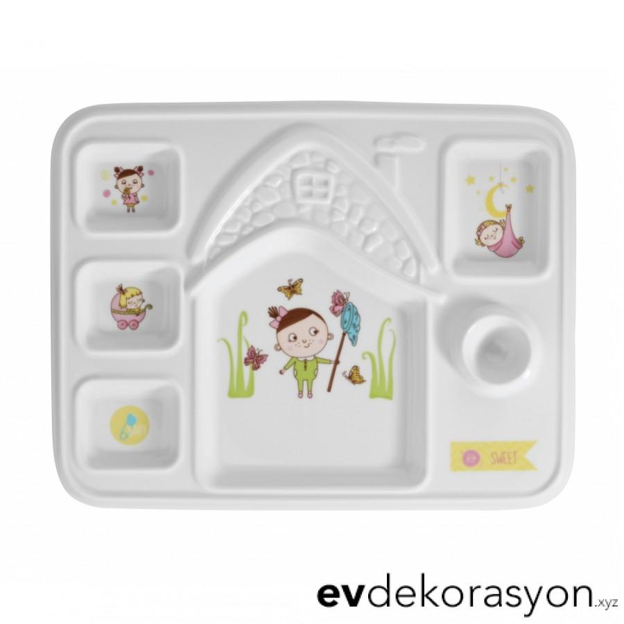 Kütahya Porselen Junior 9995 Desen Kahvaltı Tepsisi