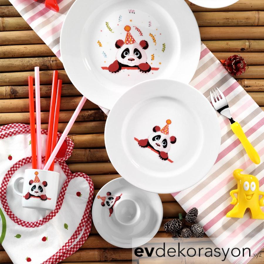 Kütahya Porselen Meraklı Panda Mama Takımı