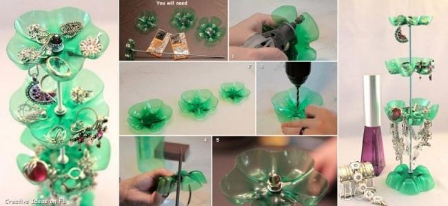 Plastik Şişelerden Takı Organizeri Yapımı