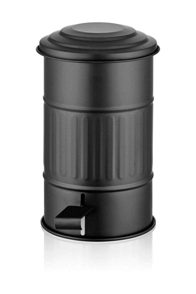 Siyah Metal Banyo Çöp Kovası