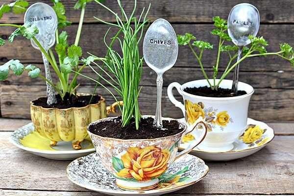 Eski Fincan ile Bahçe Saksıları Yapmak