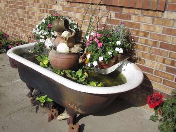 Küvetten Bahçeye Süs Havuzu Yapmak