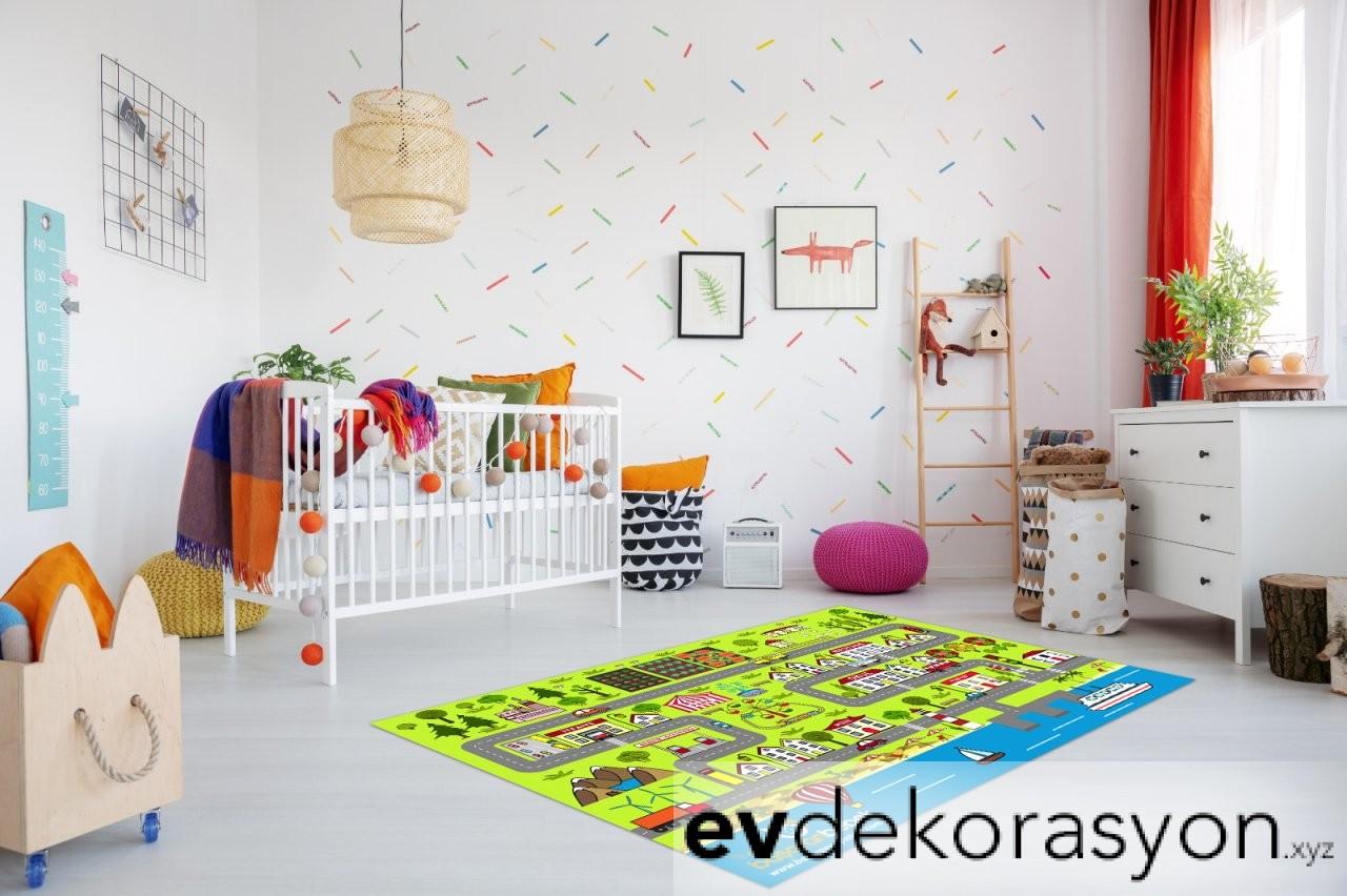 Çocuk Odası Oyun Halısı Modelleri 2019
