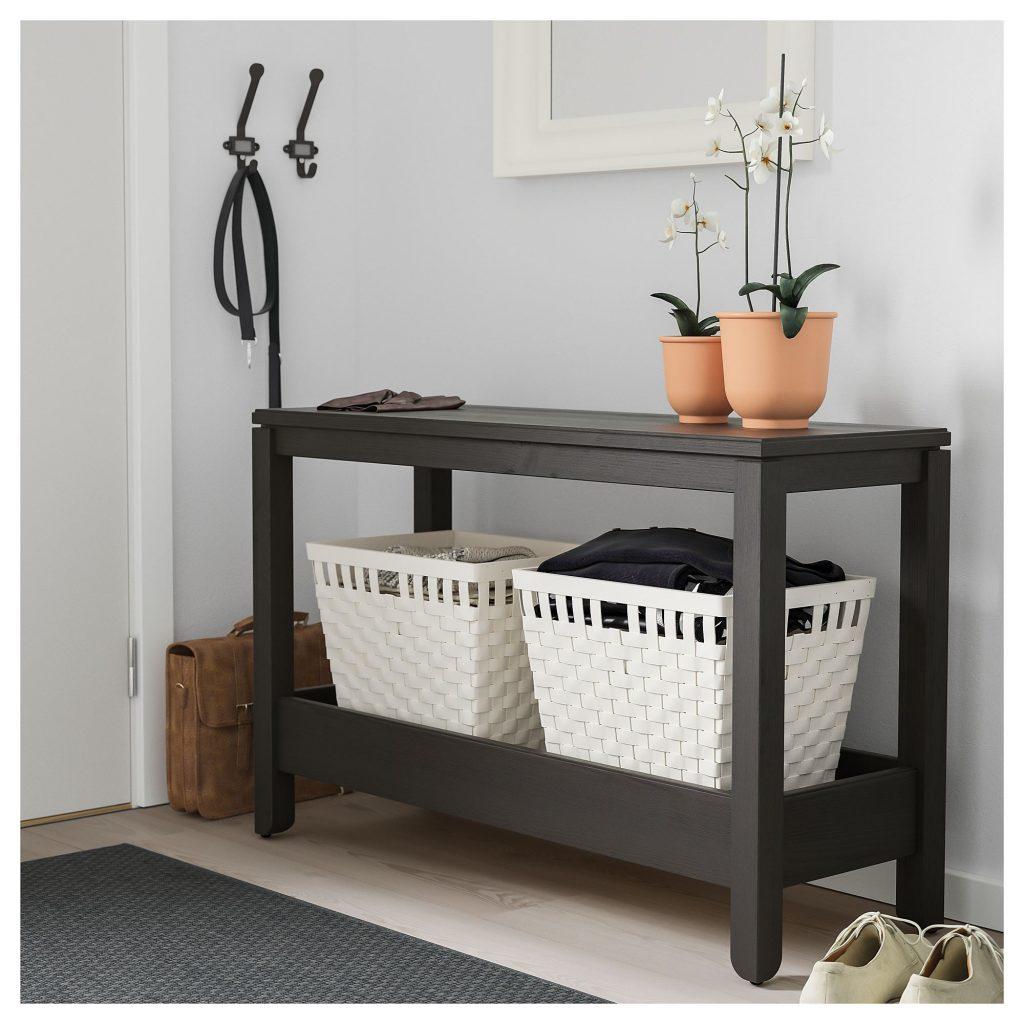 IKEA Konsol Sehpa Koyu Kahverengi