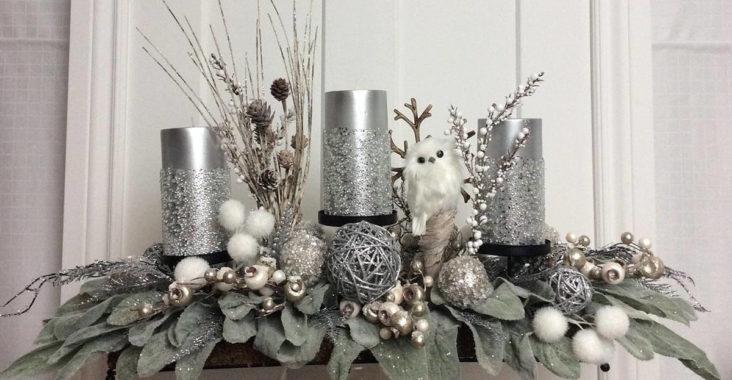 Gümüş Noel Dekorasyonu
