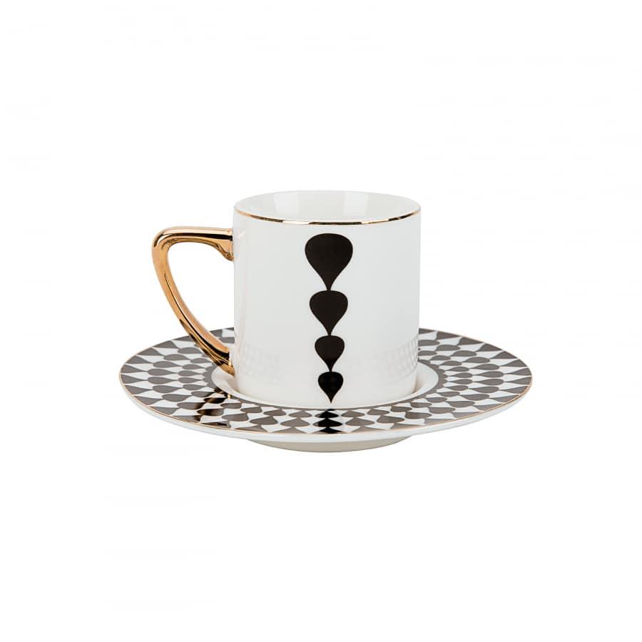 Karaca Black Drop 6 Kişilik Kahve Fincan Takımı