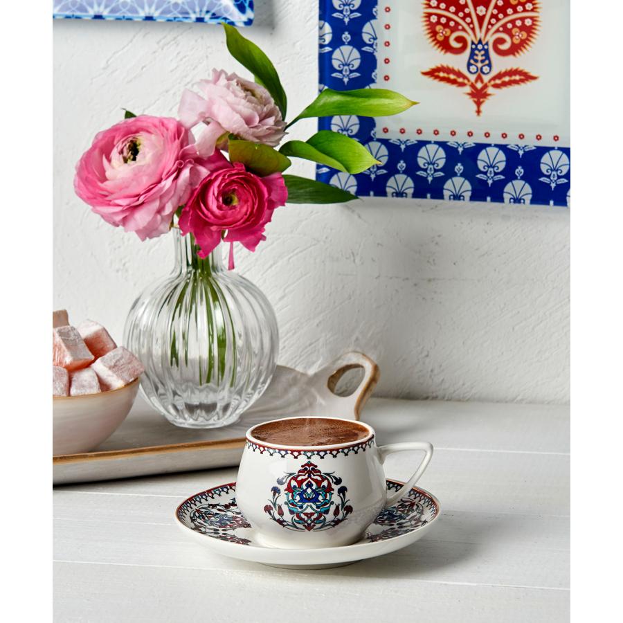 Karaca Nakkaş 6lı Kahve Fincanı Seti