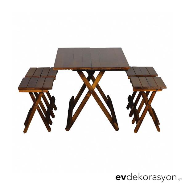 Katlanır Piknik Masası Ceviz