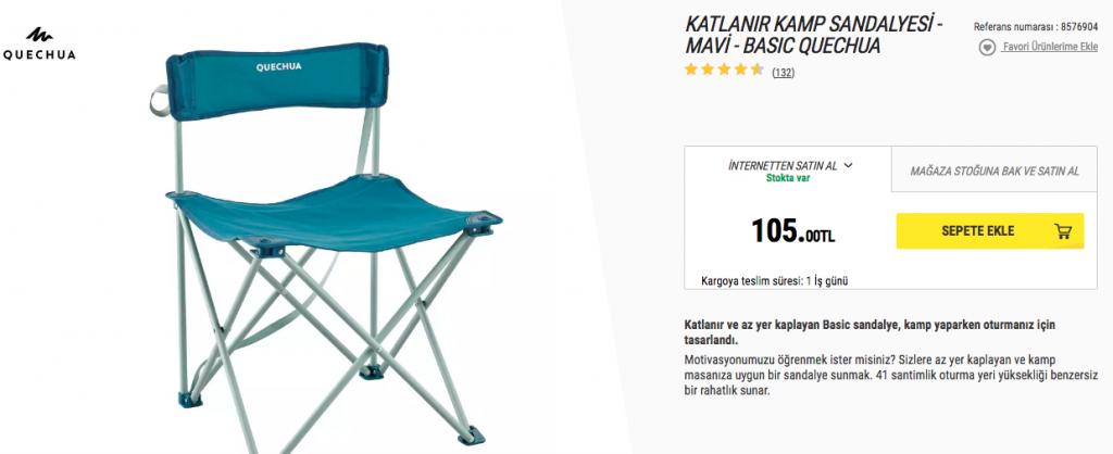 Kamp Sandalye Fiyatları